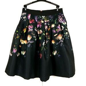 NWOT Ted Baker Denis Shadow Flora Full Skirt